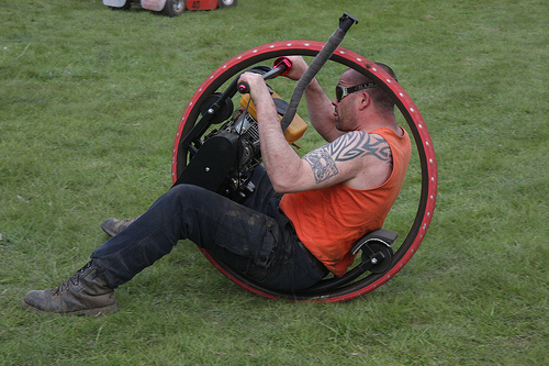 On Your Mark Get Set, MOW!   Turning lawn mowers into racing